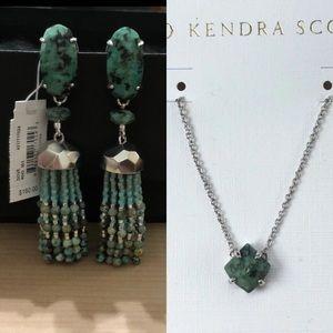 NWT Kendra Scott African Turquoise Bundle